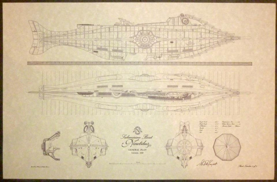 чертежи подводной лодки капитана немо